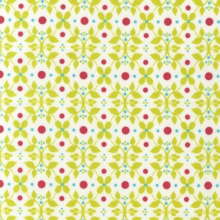 Organic Cotton Fabric Modern Whimsy Meadow by Laurie Wisbrun for Robert Kaufman - 1/2 YD - FabricFascination