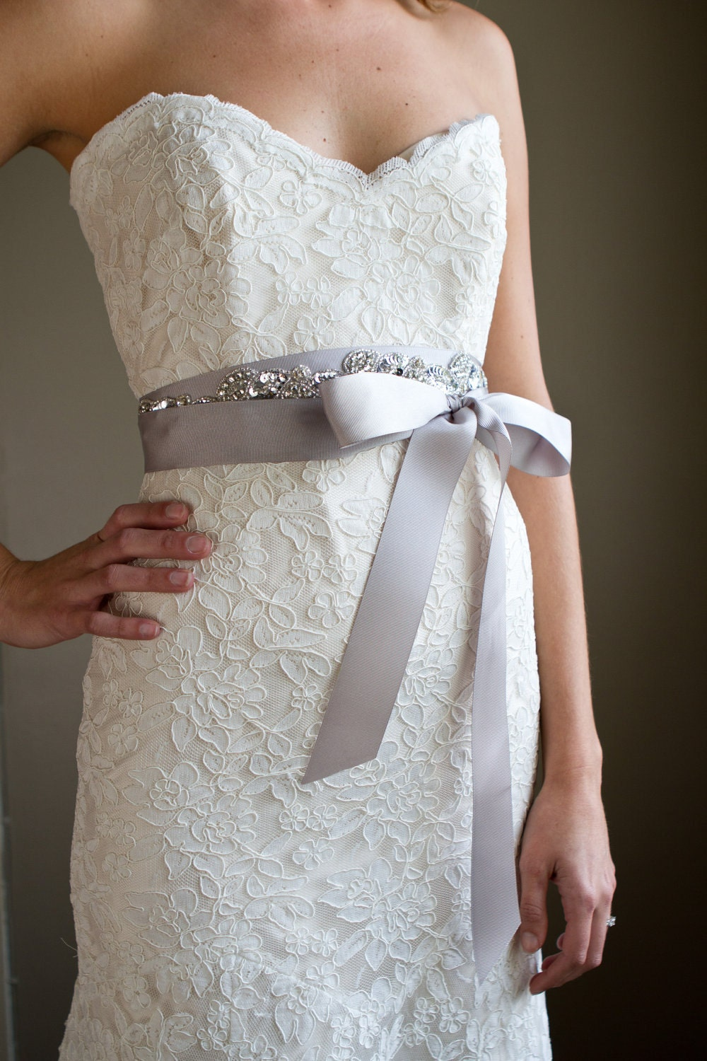 Beaded Sequin Sash
