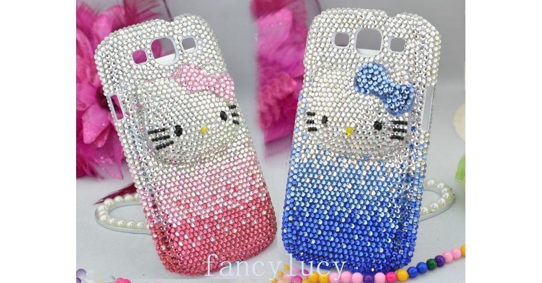 samsung galaxy s3 i9300 case - Samsung I9300 case - Cute kitty cat Bling Samsung galaxy S3 case - crystal Samsung galaxy S3 i9300 case cover