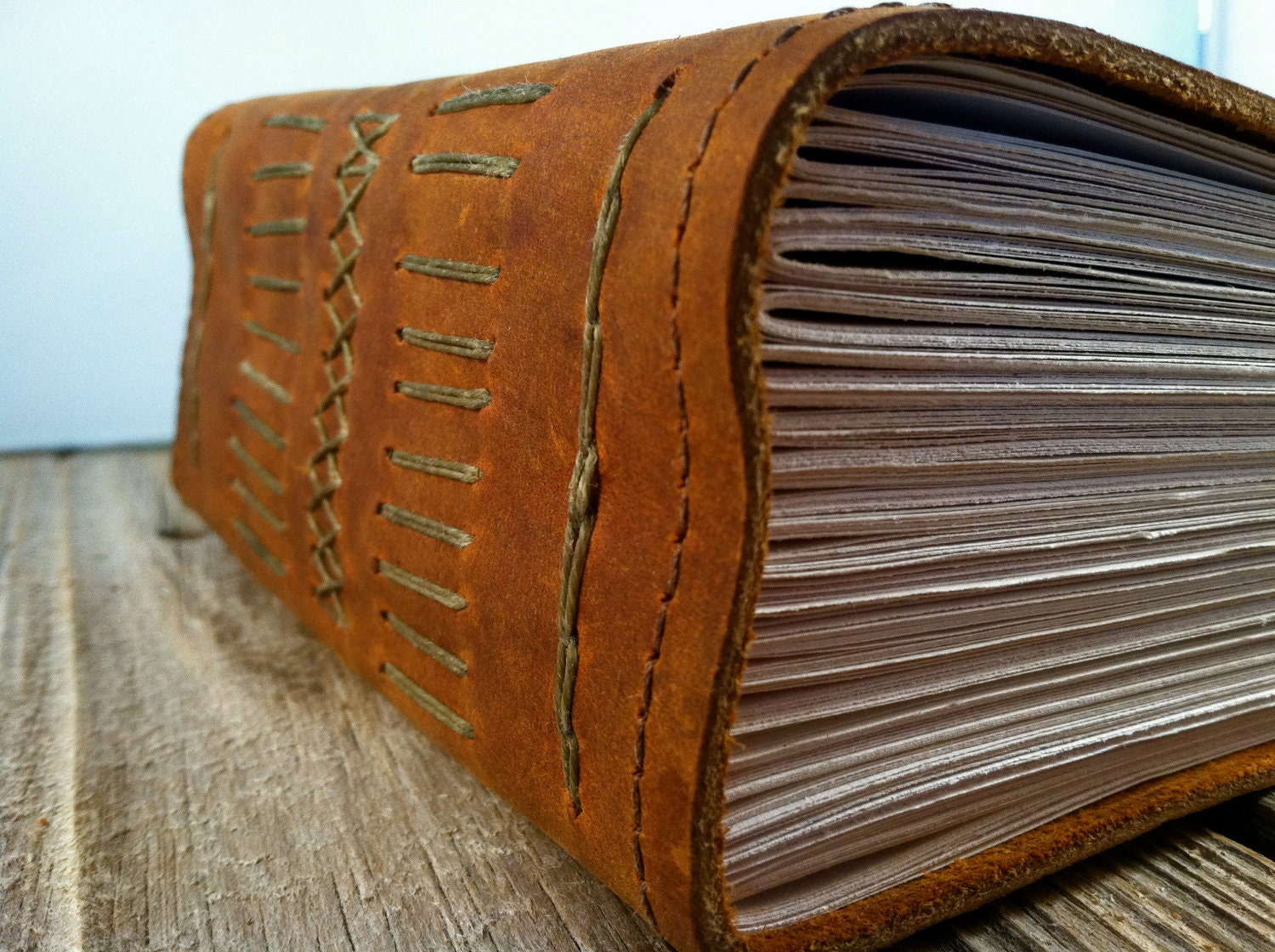 Extra Thick Epic Leather Journal for those who need a few extra pages - bindingbee