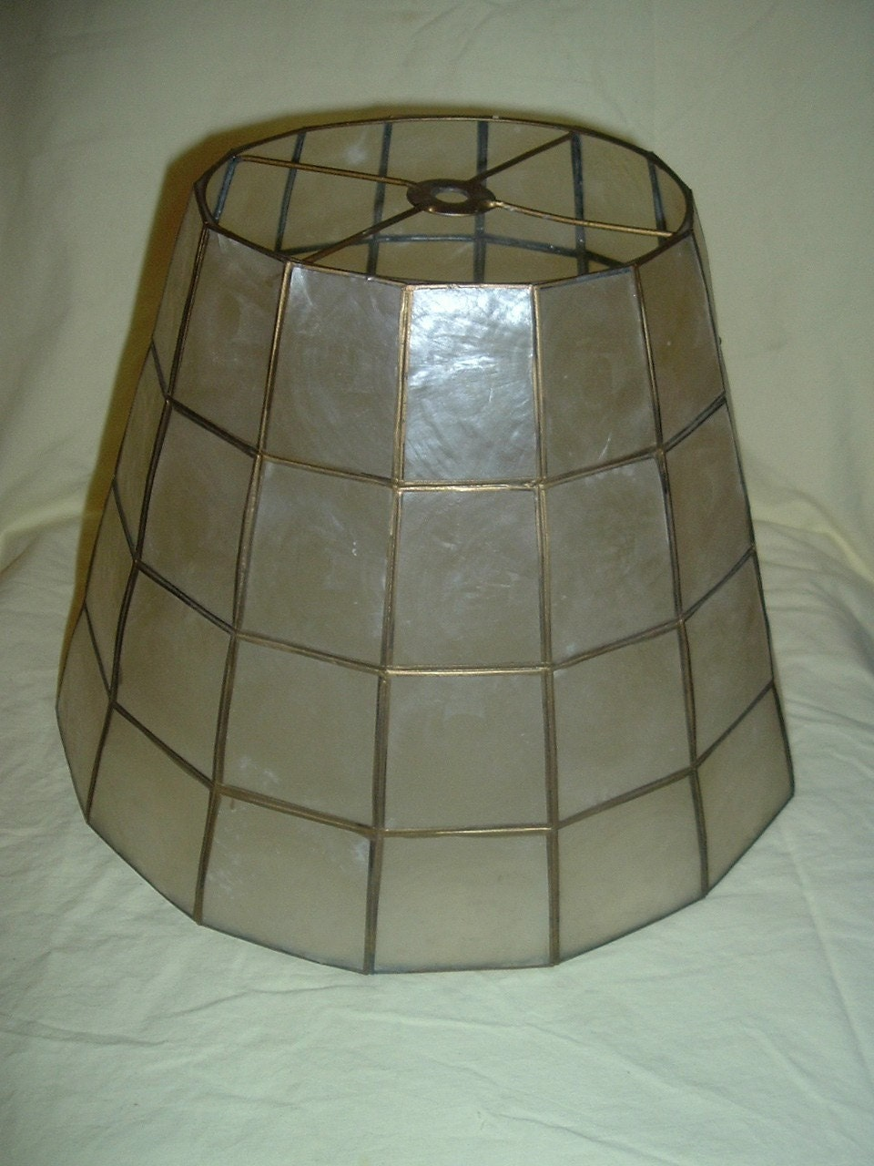 vintage gold lamps with mother of pearl shades help with
