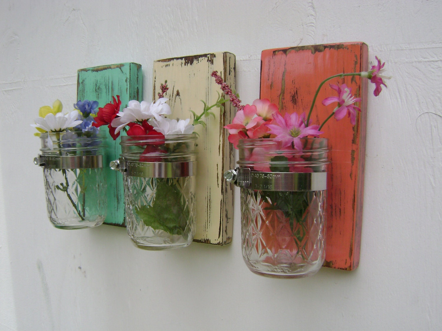 wall sconce shabby chic rustic wooden vases by UncleJohnsCabin