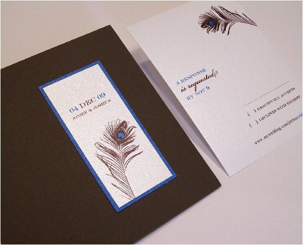 Peacock Wedding Invitation From graciouslyaccepts