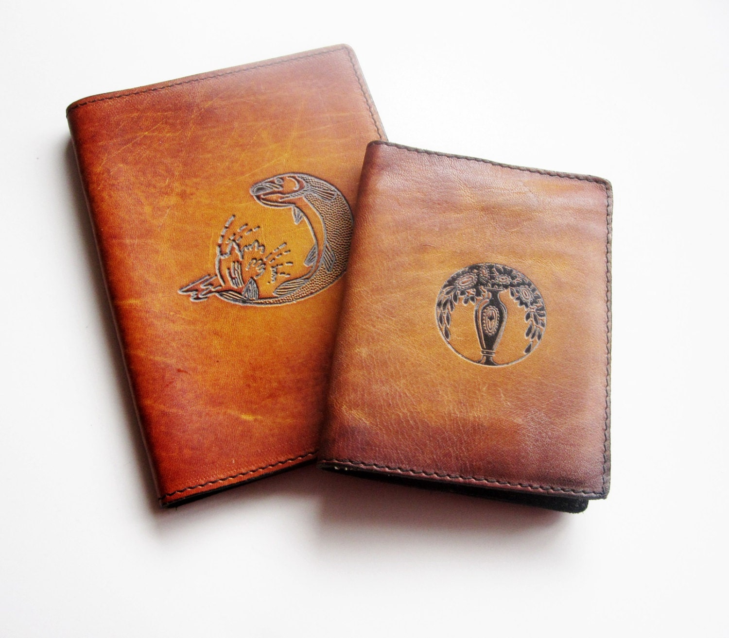 Men's Leather Passport Holder and Card Holder - Latrouvaille