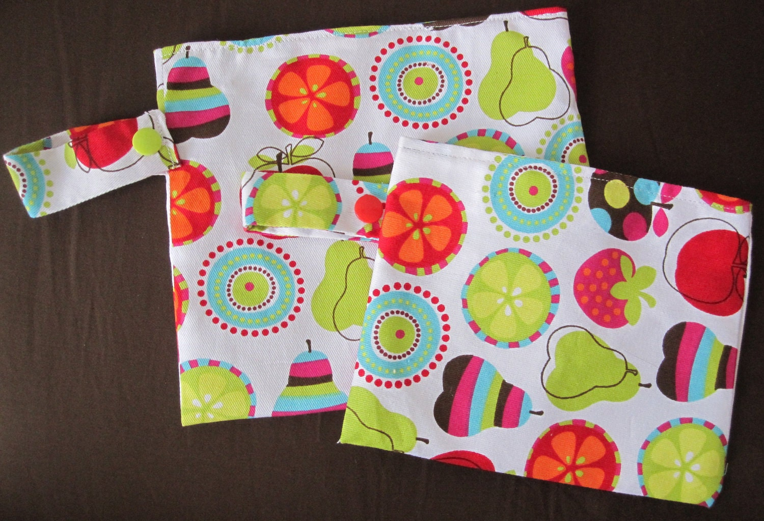Reusable Sandwich and Snack bag Combo - Pick your Own Fabric & Personalize