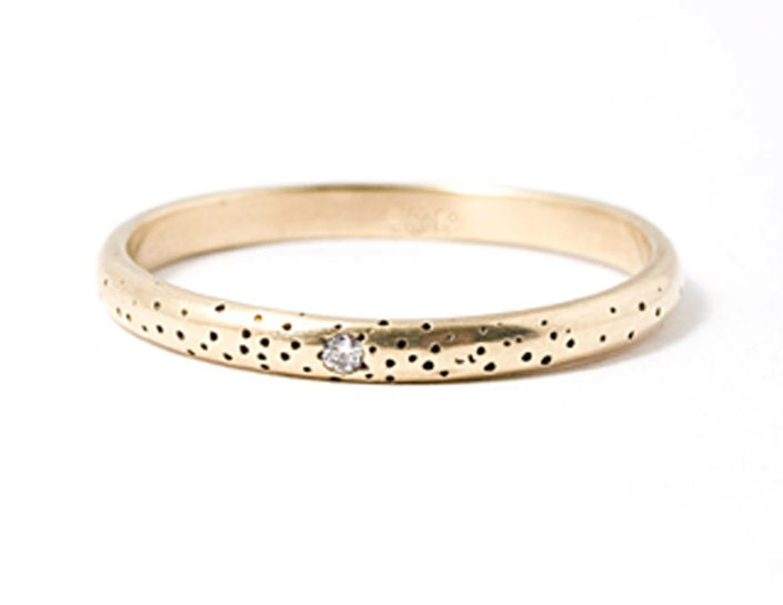 Speckled Band - 14k - Size 8 and up - ClaireKinder
