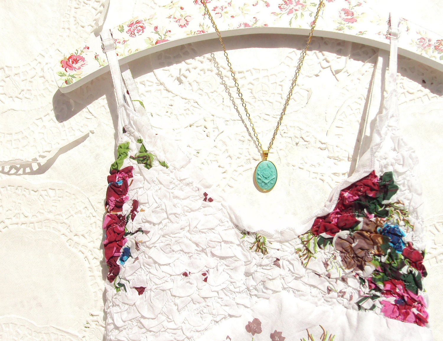 The Rose - Rose Cameo Necklace