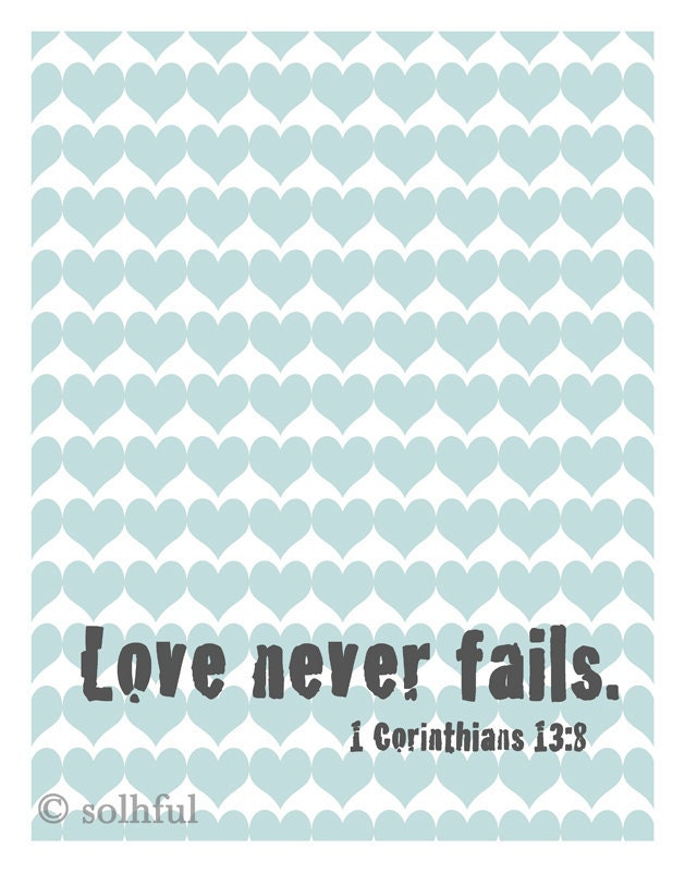 Christian Art - Inspirational Art Print - Illustration - Printable - Bible Quote - Love Art - Modern Art Print - 8x10 - SolhfulPhotography