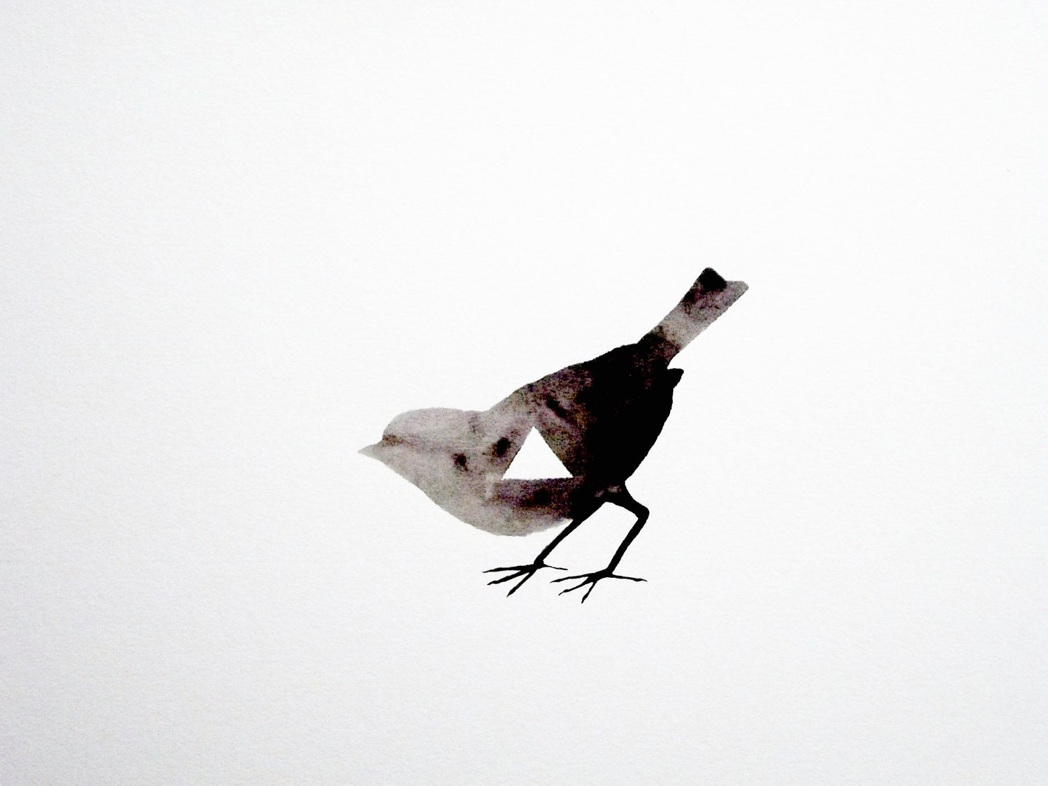 Geometric Bird - Original Watercolor