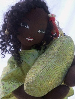 Hand designed, black fashion doll ooak 24 inches
