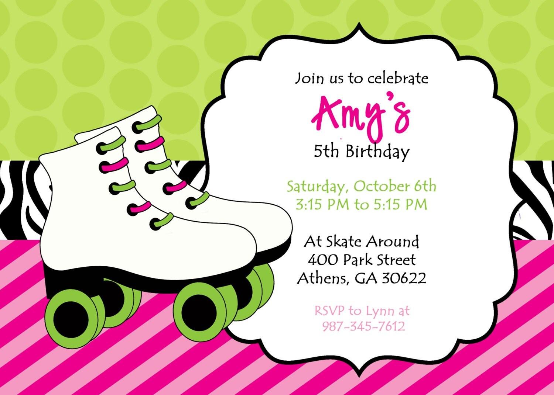 Roller Skating Party Invitation as good invitation design