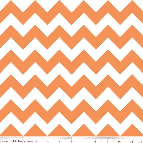 Riley Blake Chevron - Orange - Medium - 1/2 yard - Sweetbobbinsfabric