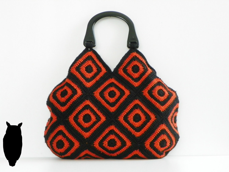 NzLbags Новый - Хэллоуин афганской сумка вязание крючком, сумки - Сумка Nr-0196