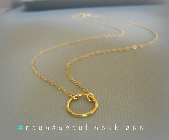 roundabout - 14k gold filled chain - simple everyday jewelry