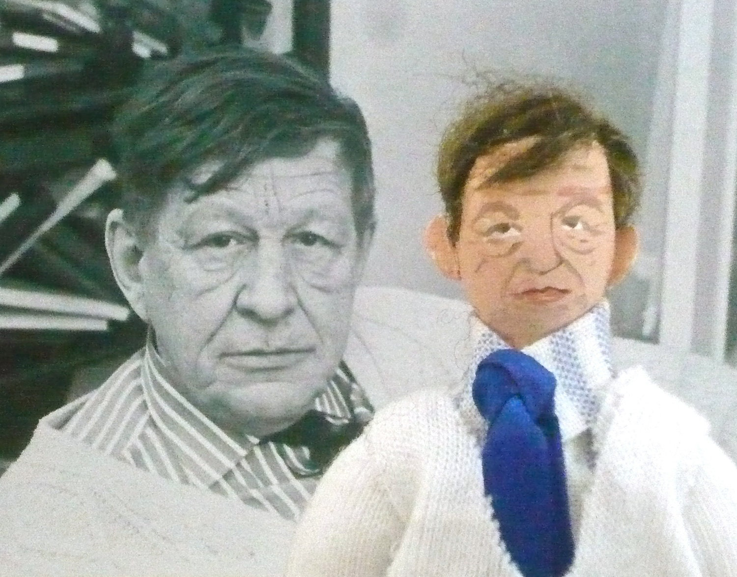 Doll Miniature Author W.H. Auden Collectible Art Character