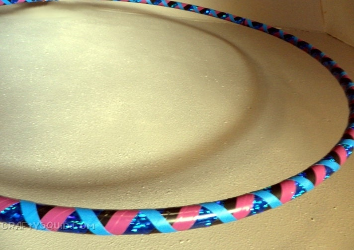 ... Criss-cross Taped Pattern Hula Hoop for Dance or Exercise - Adult Size