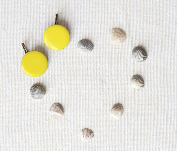 Sunny yellow earrings - lemon yellow - GentleDecisions
