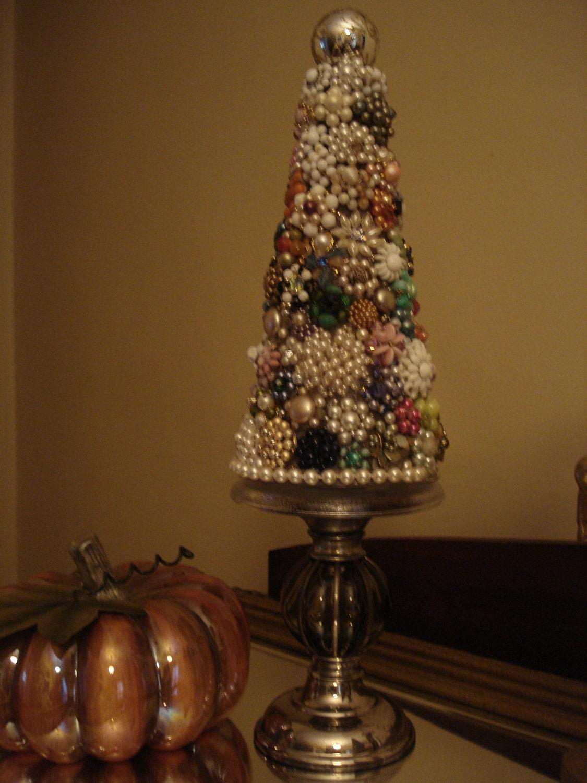 Vintage Cluster Earring Christmas Tree