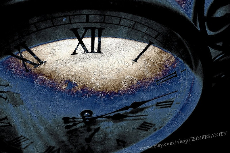 Frozen In Time - Abstract Photography, Clock Art, Surreal Art, Wall Art, Home Decor, 10x15, Fine Art Print - INNERSANITY