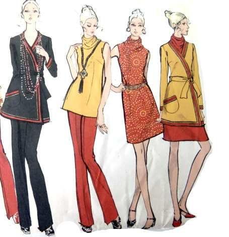 Todays Treasure Shop Talk: Wrap Around Pants Culottes, Sewing Patterns