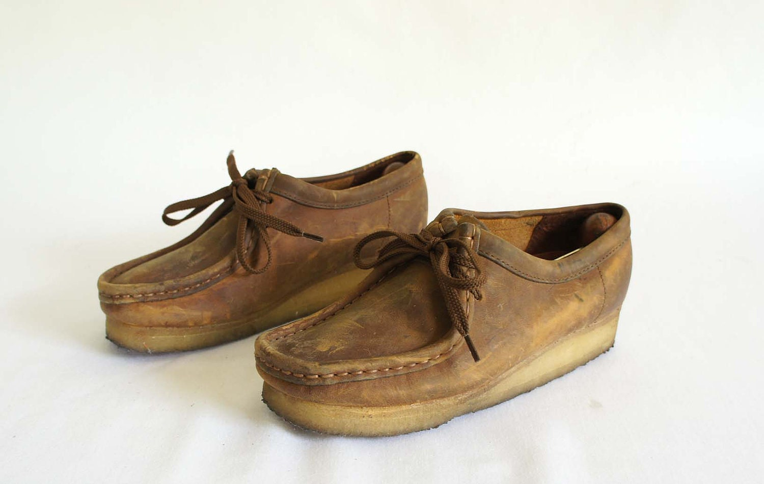 Brown Leather Wallabees