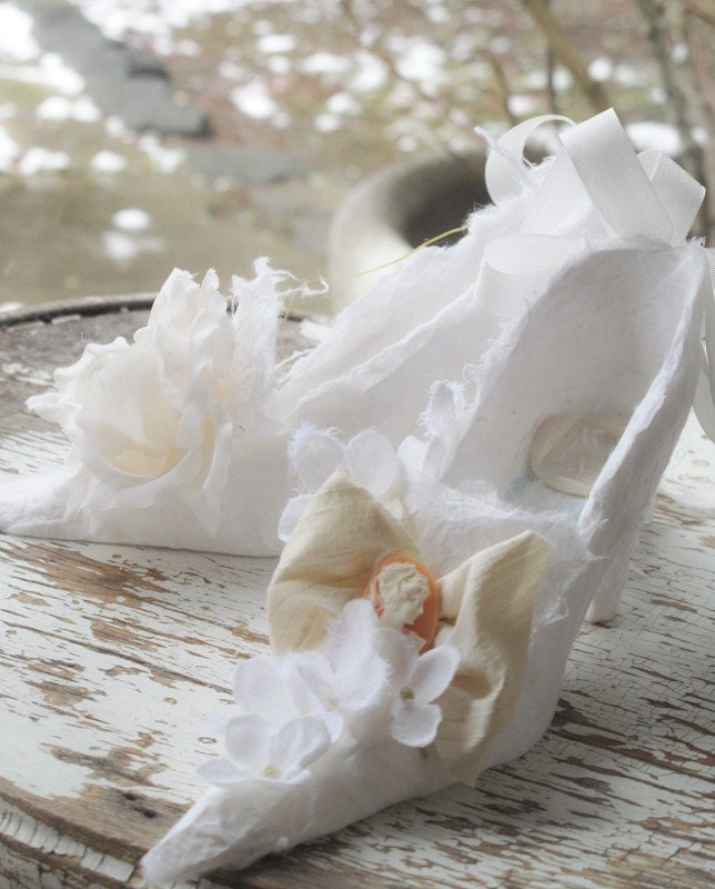 OOAK Marie Antoinette White Shoe