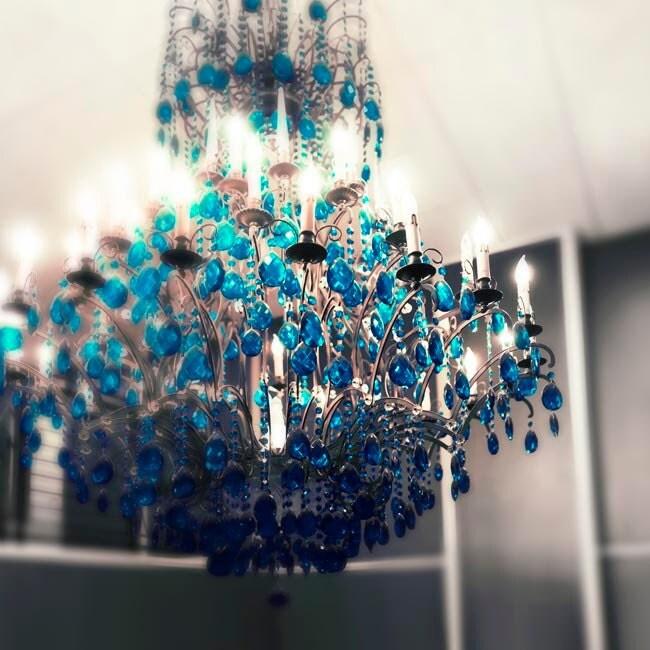Nursery chandelier teal wall art fairy tale photography children decor