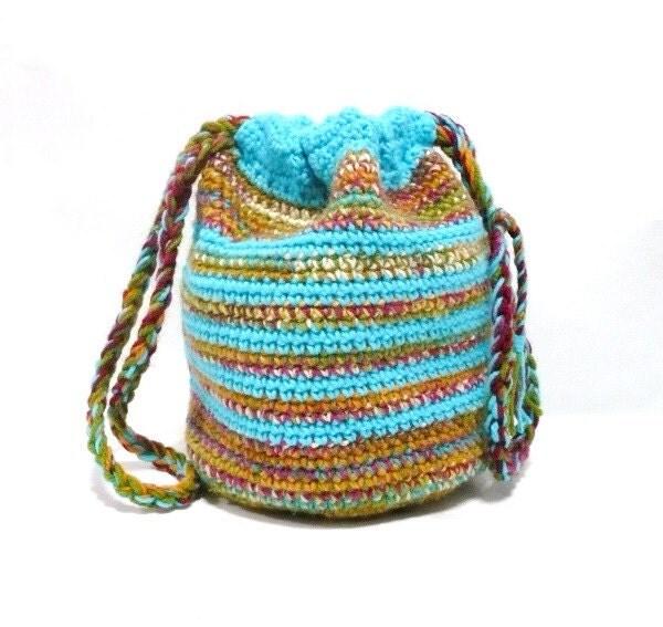 Drawstring Bag Crochet Pattern : Easy Crochet Slipper Pattern Crochet Blanket Instructions >>