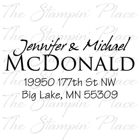 Custom Address Stamp - Return Address - Rubber Stamp PR157