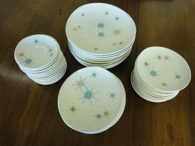 Franciscan Atomic Starburst Dinnerware & A Collectoru0027s Guide to Mid-Century Dishware - Etsy Journal