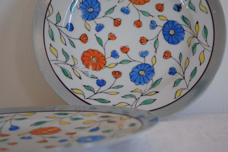 lusterware plate vintage made