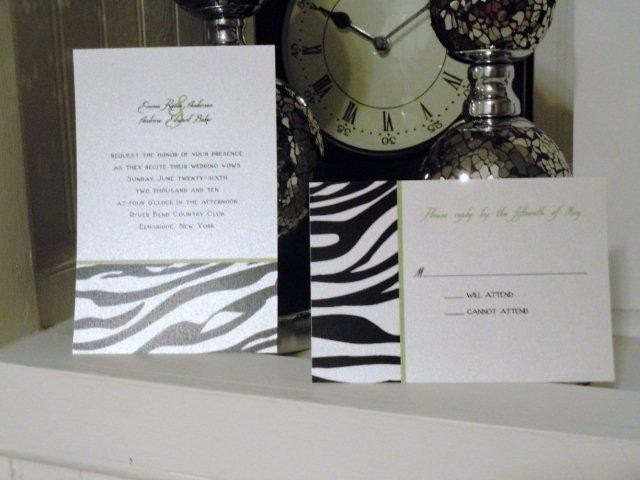 Modern Zebra Print Wedding Invitations SAMPLE From InvitesCouture