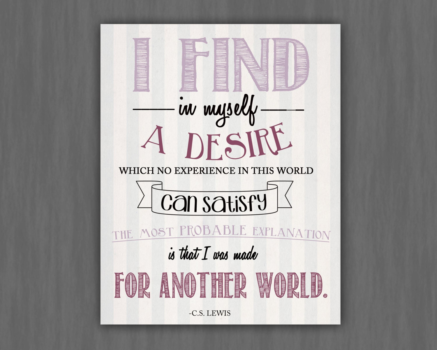 C.S. Lewis quote 8x10 print - OhHappinessCards