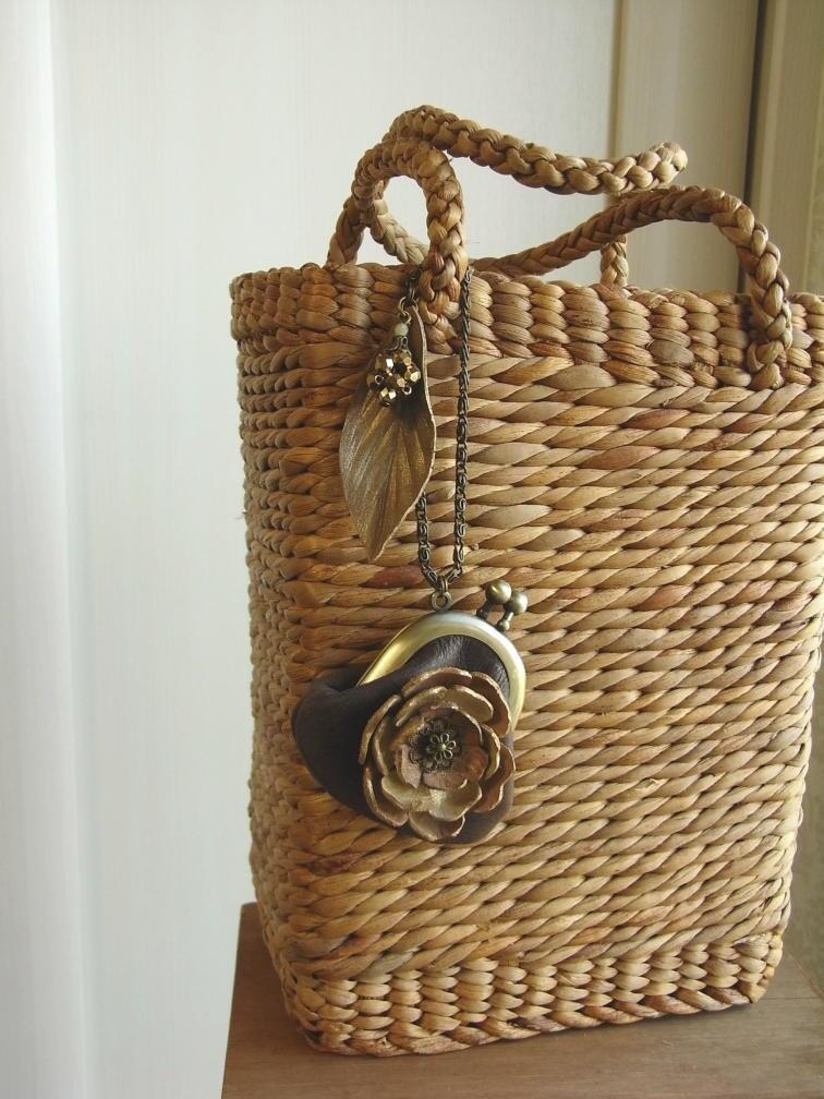 мини ожерелье кошелек - хана - коричневый