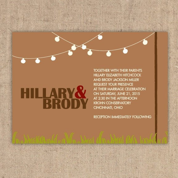 String of Lights Party Invitation Wedding Invitation From kindlyreply