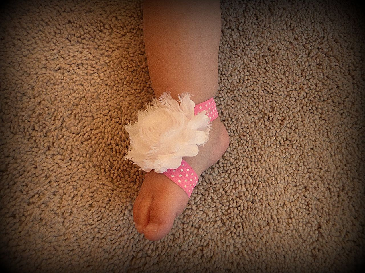 Baby Barefoot Sandals, Barefoot Sandals, Baby Shoes, Baby Headbands - SecretBlossom
