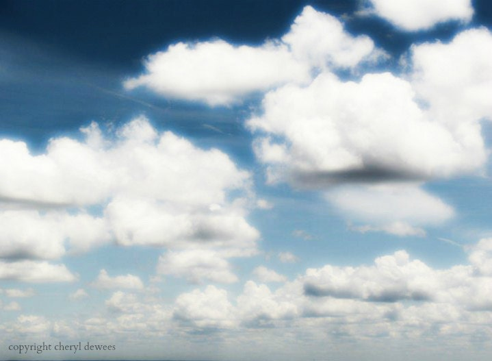 Cloud 9/Fine Art Photography Print/Sky/Horizon/Clouds/White/Blue/Photography/5x7 - PointofViewCreations