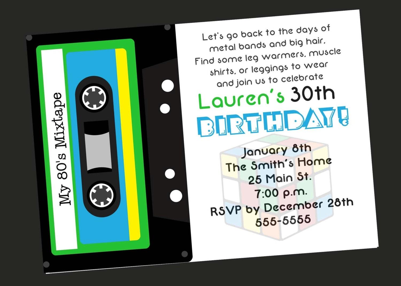 ... www.etsy.com/listing/93540829/80s-theme-30th-birthday-party-invitation