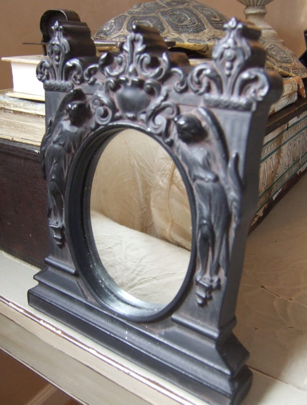 Reproduction Art Nouveau Angel Mirror