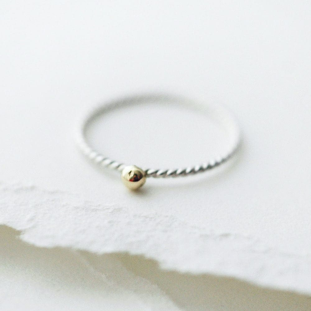Golden droplet ring - Minicyn