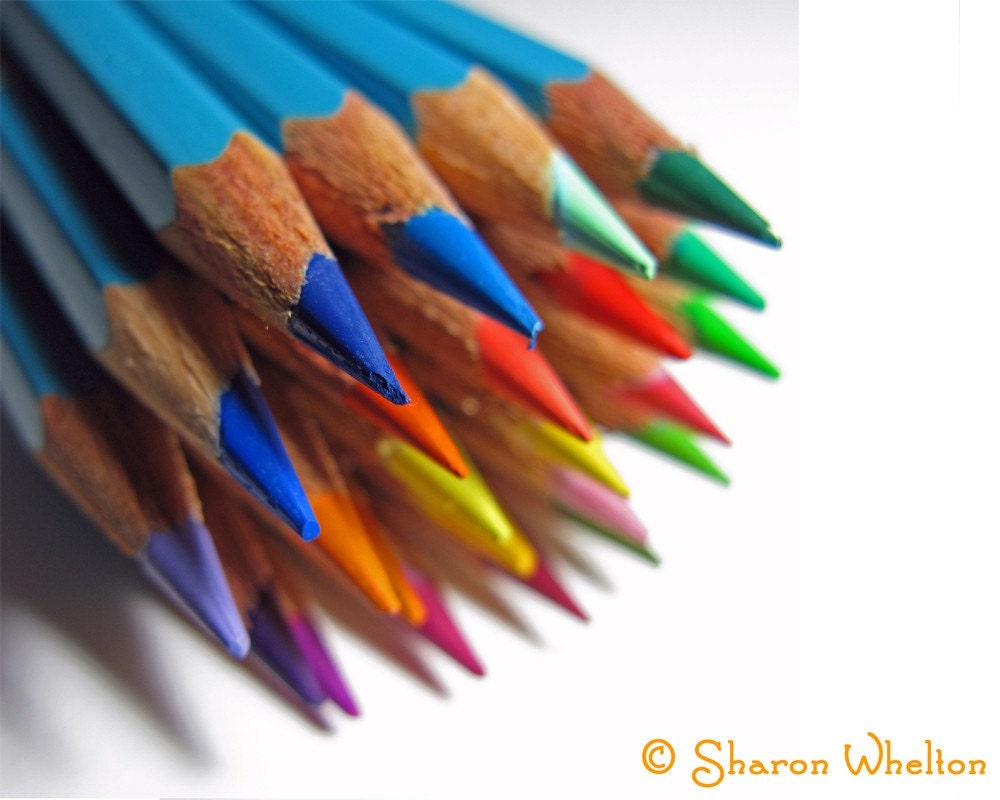 Watercolor Pencils - 8x10 Fine Art Photograph