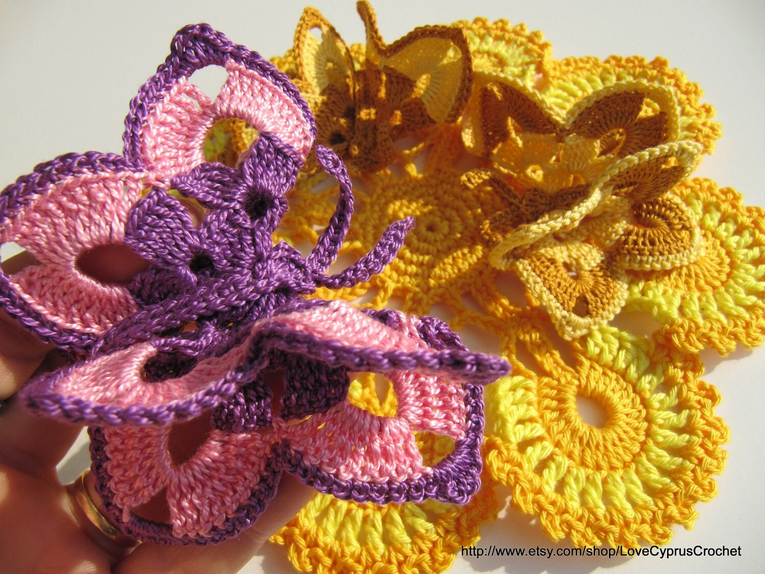 Beautiful CROCHET BUTTERFLY Crochet Pattern PDF File, Easter Decorations, Pattern number 16, Crochet Butterfly Applique, Lyubava Crochet