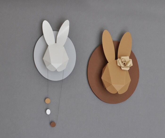 Rabbit Paper Head