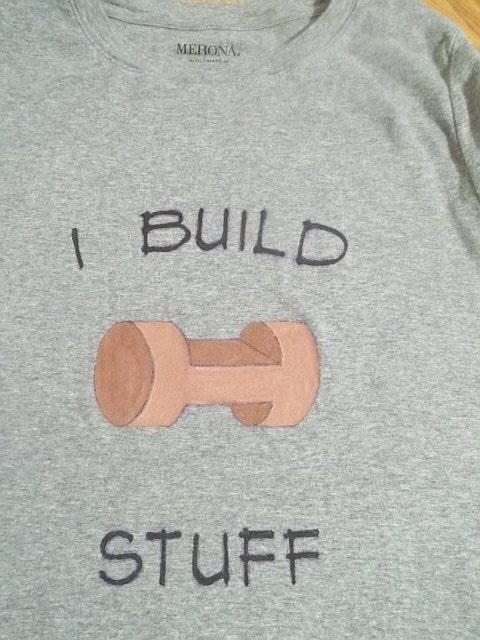 "Lincoln LOG tee-ships free- ""I Build Stuff"" Custom - Free shipping USA - AngelLeighDesigns"