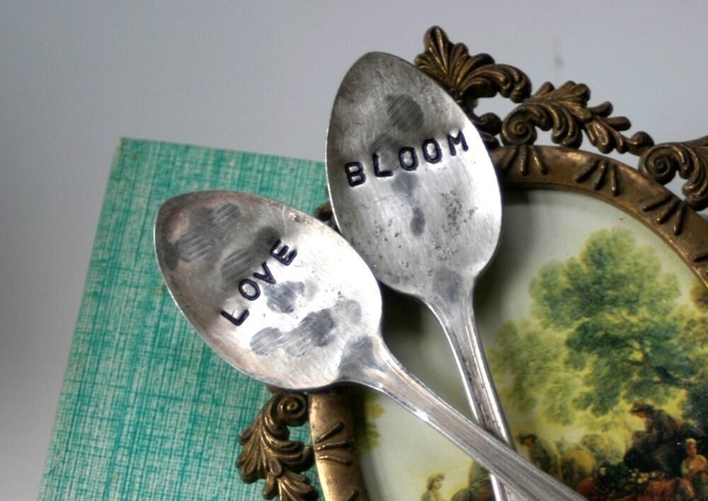 Love and Bloom Vintage Silverware Garden Marker