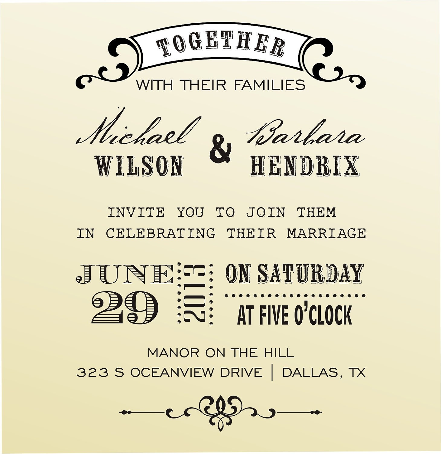 Special wedding invitation wedding invitation fonts stopboris Image collections