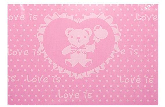 50 Love bear Opaque Handle Plastic Bags - 240x280mm