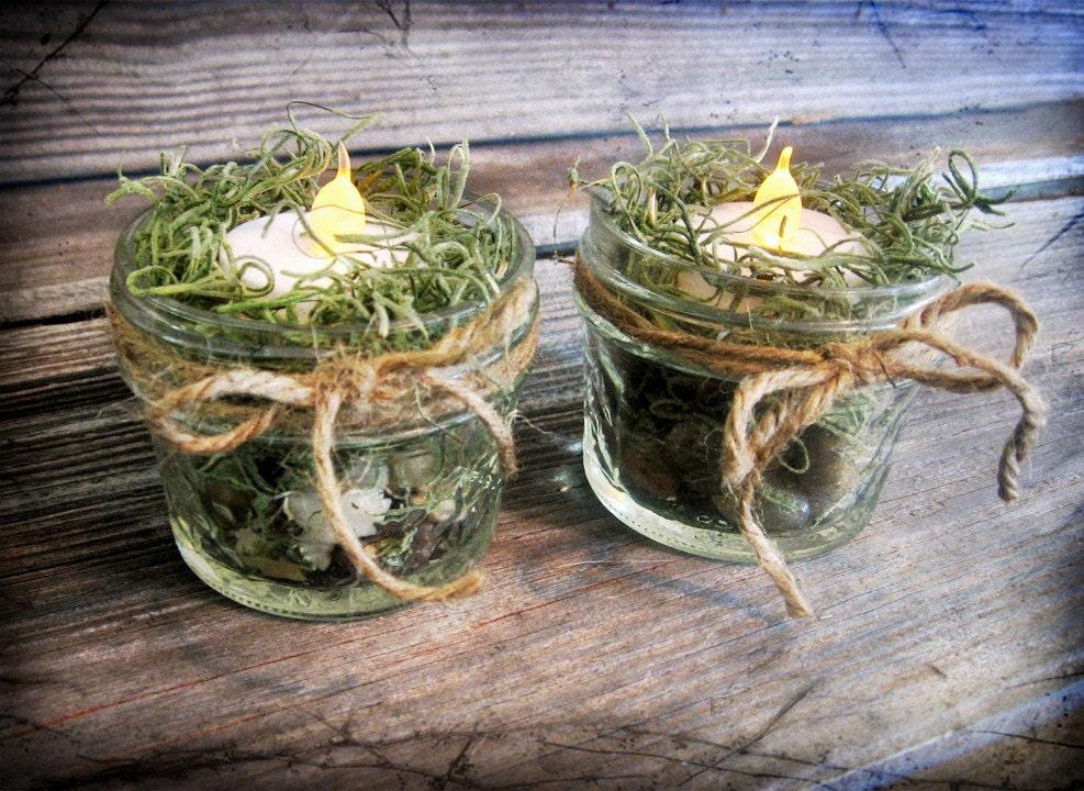 4 Tea Mason Jar Luzes