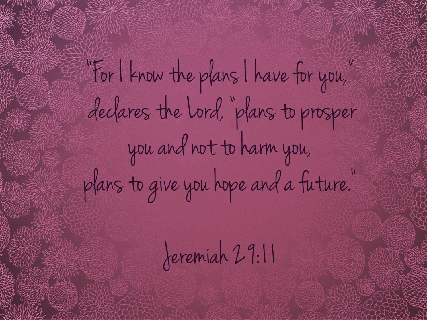 Jeremiah 29:11/Scripture Art/Purple/Lavender/Lilac/Pink - PointofViewCreations