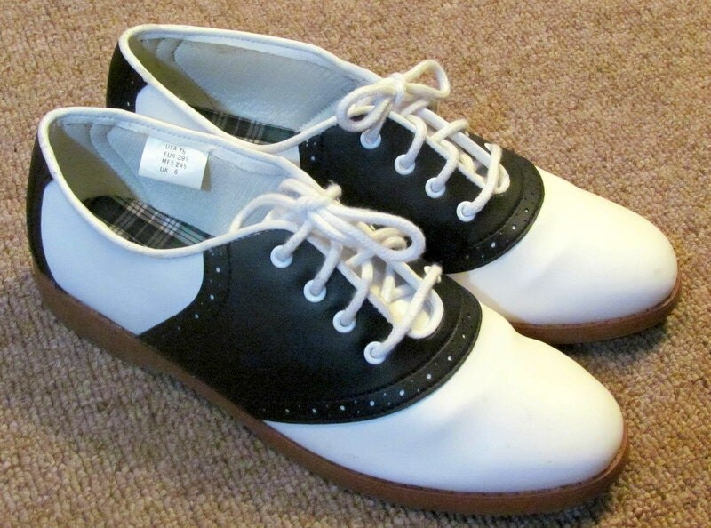 Black And White Saddle Shoes For Women